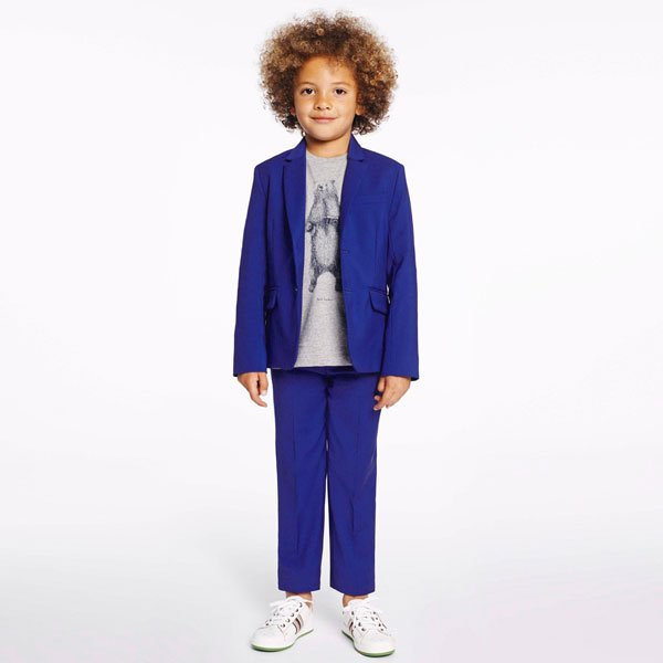 Paul Smith Junior Boys Blue Silky Cotton 'Habiss' Suit