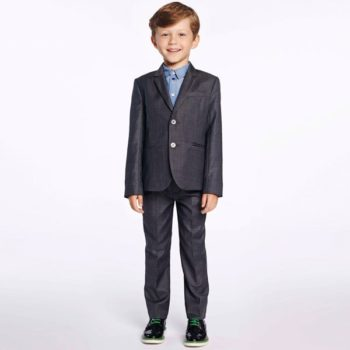 Paul Smith Junior Boys Grey Silky Cotton 'Haffix' Suit
