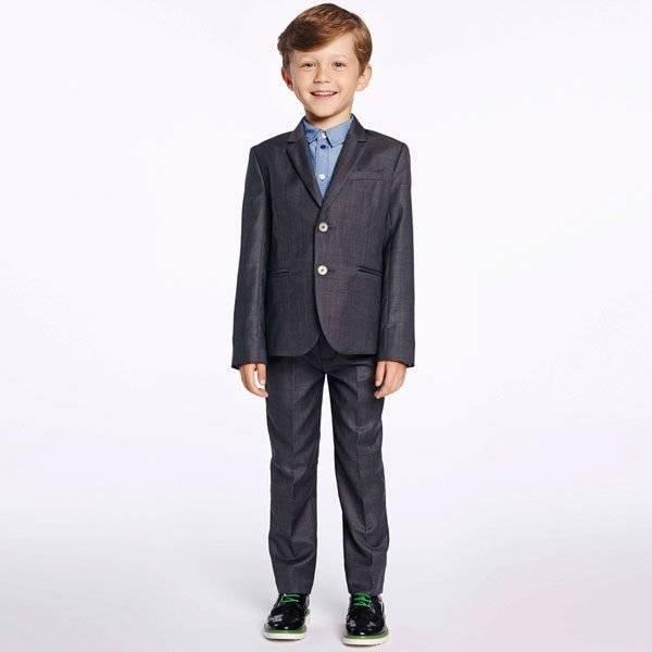 Paul Smith Junior Boys Grey Silky Cotton 'Haffix' Suit
