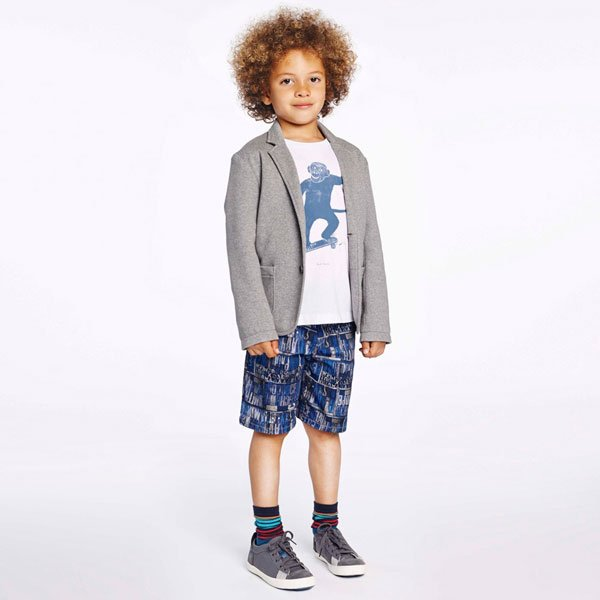 Paul Smith Junior Boys White Monkey Hensel T-Shirt
