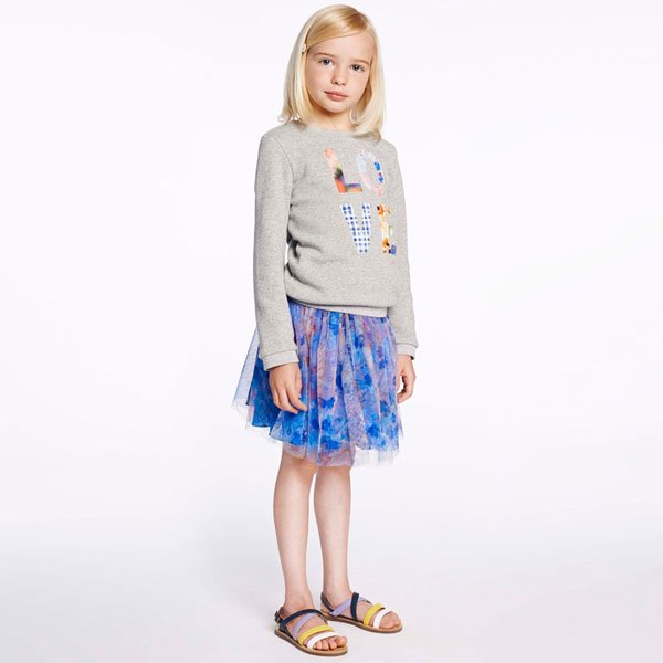 Paul Smith Junior Floral Printed Tulle 'Habea' Skirt