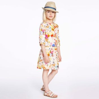 Paul Smith Junior Orange & Pink Floral 'Helene' Dress