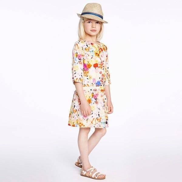 Paul Smith Junior Orange & Pink Floral 'Helene' Dress