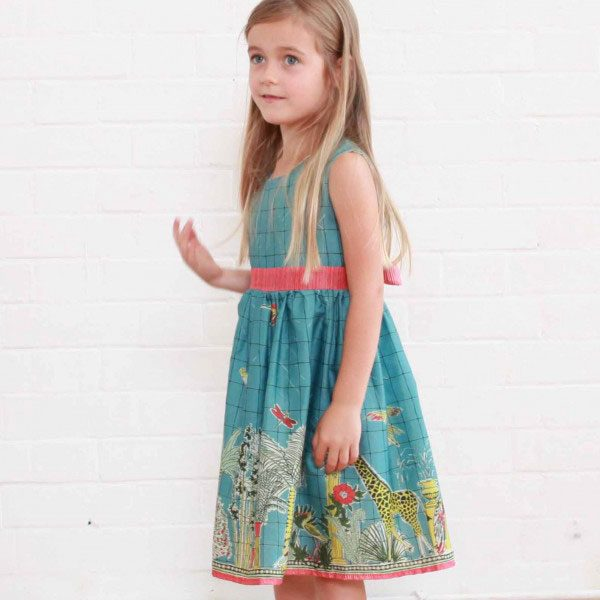 Poppy Teal Green Kew Gardens Print Martha Dress