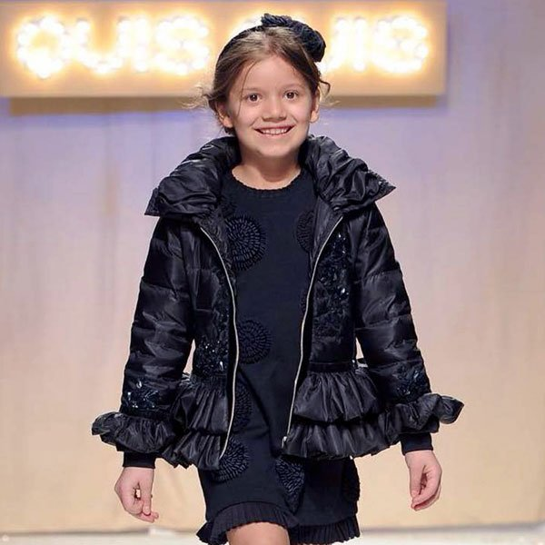 Quis Quis Girls Navy Blue Down Padded Jacket