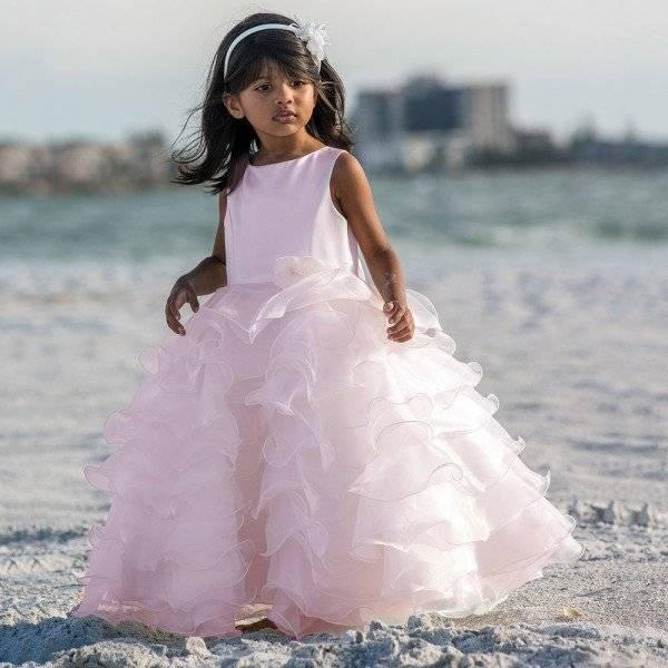 Sarah Louise Pink Sleeveless Ruffle Dress