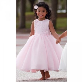 Sarah Louise Pink Tulle Beaded Occasion Dress pink