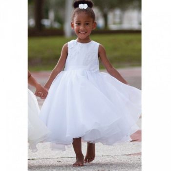 Sarah Louise White Tulle Beaded Occasion Dress