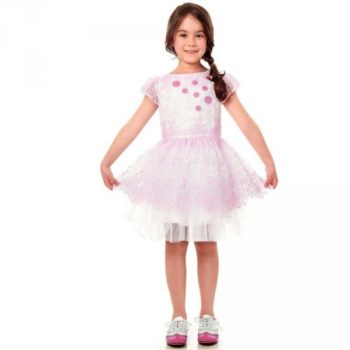 Simonetta Pink Lace & Tulle Dress
