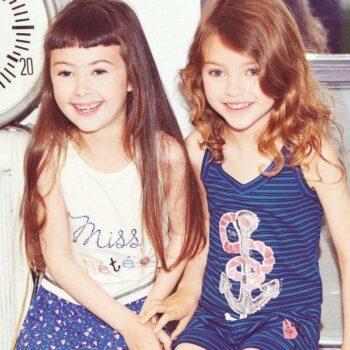 Sonia Rykiel Enfant Girls Ivory Cotton Jewelled Vest Top