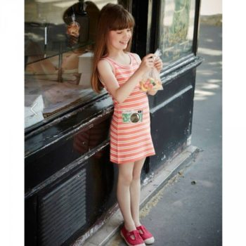 Sonia Rykiel Enfant Orange Camera Jersey Dress