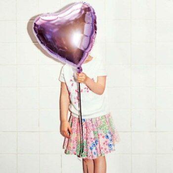 Sonia Rykiel Enfant Pink Floral Raw Hem Skirt