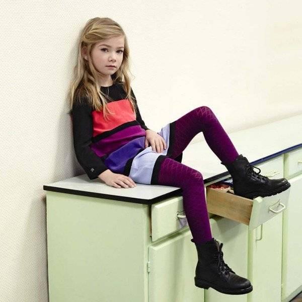 Sonia Rykiel Enfant Silk Colour Block Striped Dress
