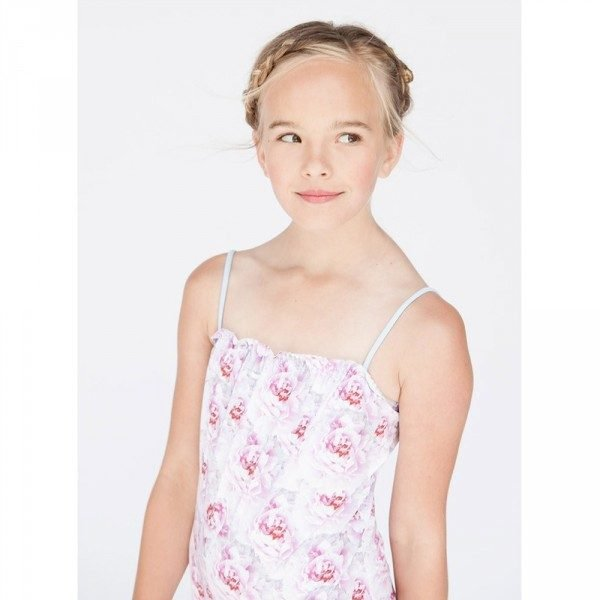 Stella Cove Girls Pink Floral Swimsuit