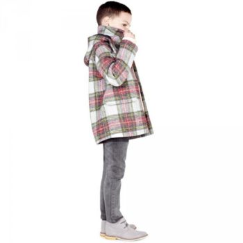 Stella McCartney Kids Tartan Wool 'Ronnie' Coat