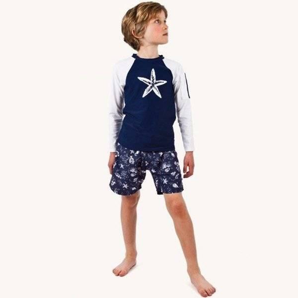Sunuva Boys Starfish Print UV Sun Protective Top