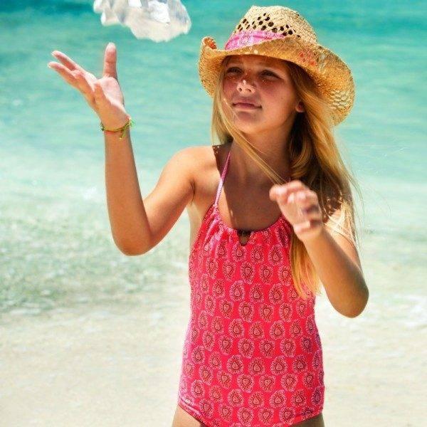 Sunuva Girls Pink Paisley Swimsuit
