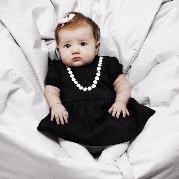 The Tiny Universe Black Jersey 'Tiny Lady' Dress