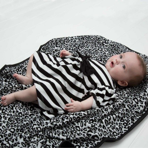 The Tiny Universe Black & White Tiny Stripes Jersey Dress