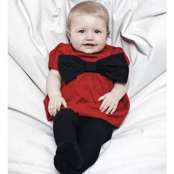 THE TINY UNIVERSE Red 'The Tiny Ribbon' Jersey Dress
