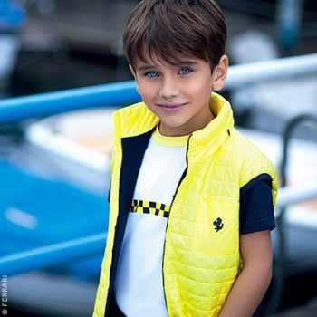 Ferrari Boys Yellow Race Flag Tshirt