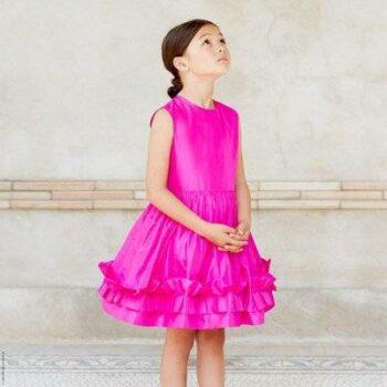 Oscar de la Renta Fuchsia Silk taffeta dress