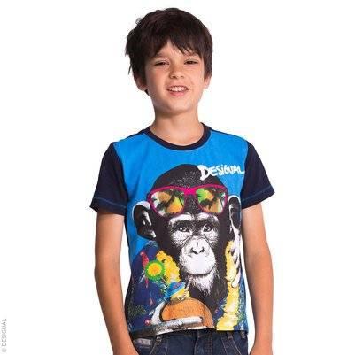 desigual boys monkey tshirt