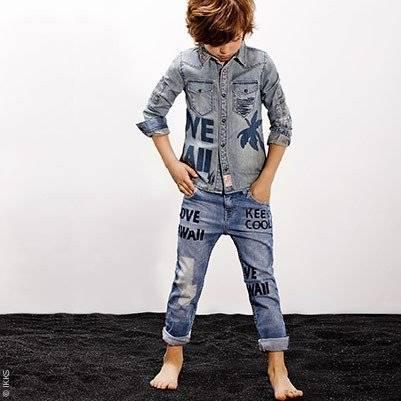 87b848a31 IKKS Boys Denim Shirt & Jeans Outfit | Dashin Fashion
