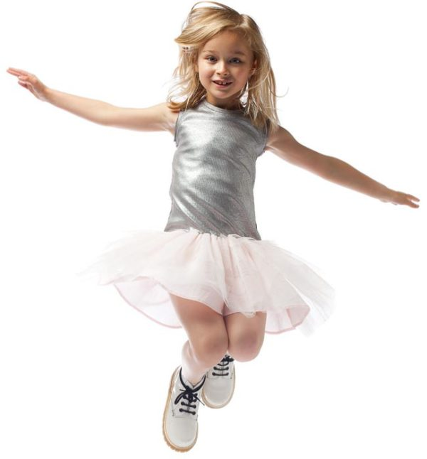 junior gaultier girls silver pink dress