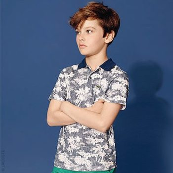 Lacoste Boys Palm Tree Polo Shirt