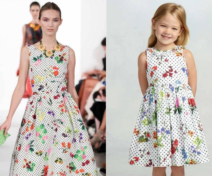 Oscar de la Renta Mini Me Botanical Garden Print Dress