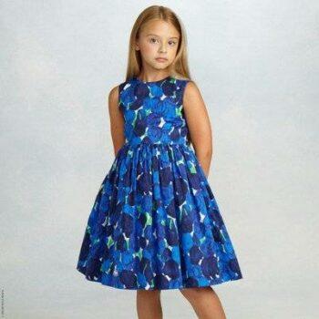 Oscar de la Renta Tulip Cotton Party Dress