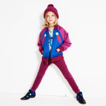 STELLA MCCARTNEY KIDS Girls Willow Bomber Jacket Blue Pink