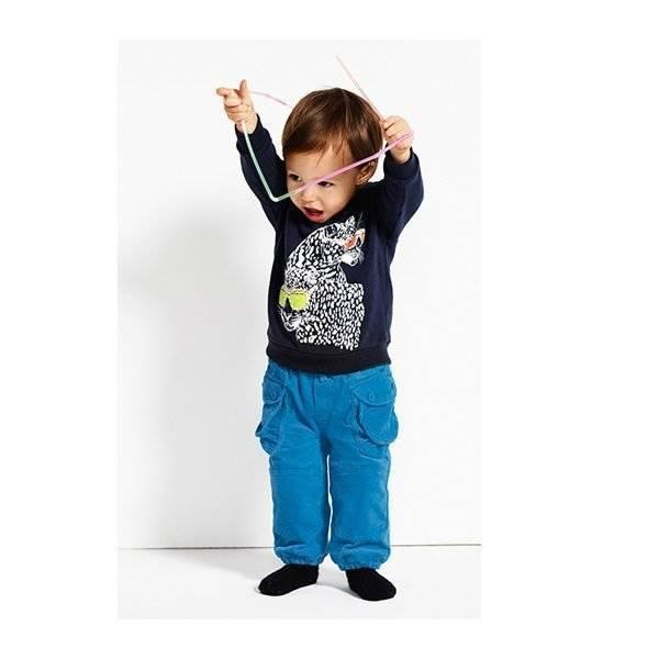 Stella McCartney Kids MIDNIGHT MAX LEOPARD PRINT T-SHIRT