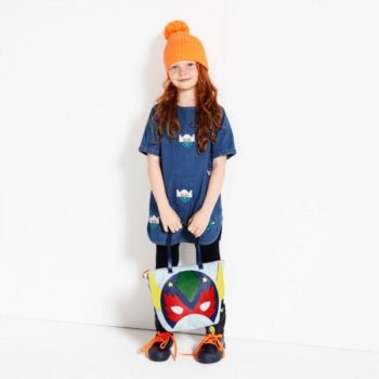 STELLA MCCARTNEY KIDS Blue Denim Super Stella Heroes Bess Dress