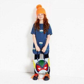 STELLA MCCARTNEY KIDS Blue Denim Super Stella Heroes Bess Dress