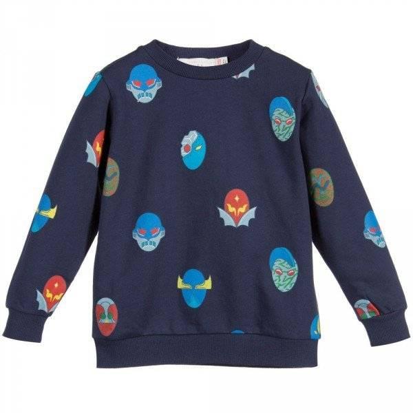 STELLA MCCARTNEY KIDS Boys Blue StellaSuperHeroes 'Billy' Sweatshirt