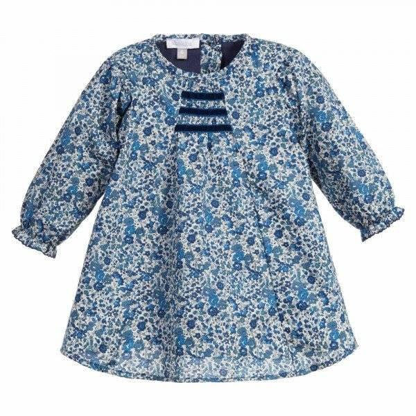ABSORBA Baby Girls Blue Liberty Print Dress photo