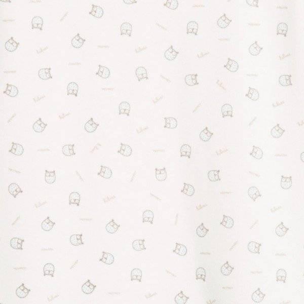 ABSORBA Ivory Organic Cotton Babygrow with Owl Print closeup