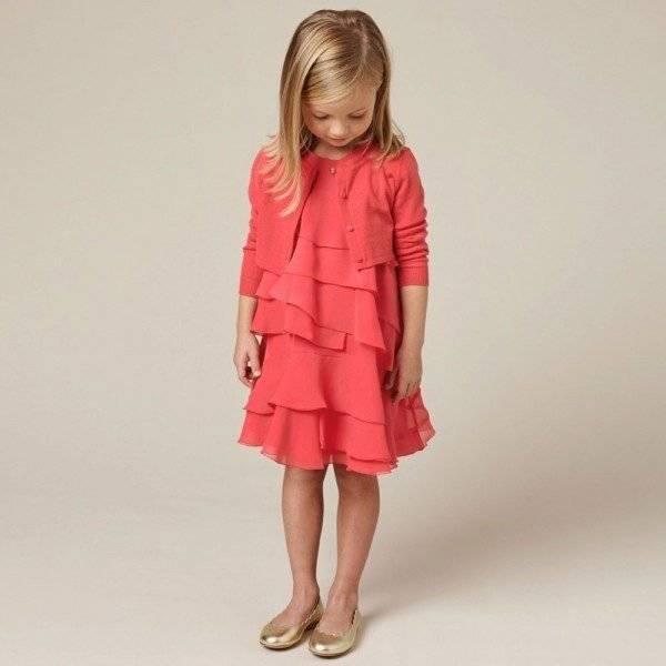 CHLOE-Coral-Red-Silk-Crepe-Ruffle-Dress