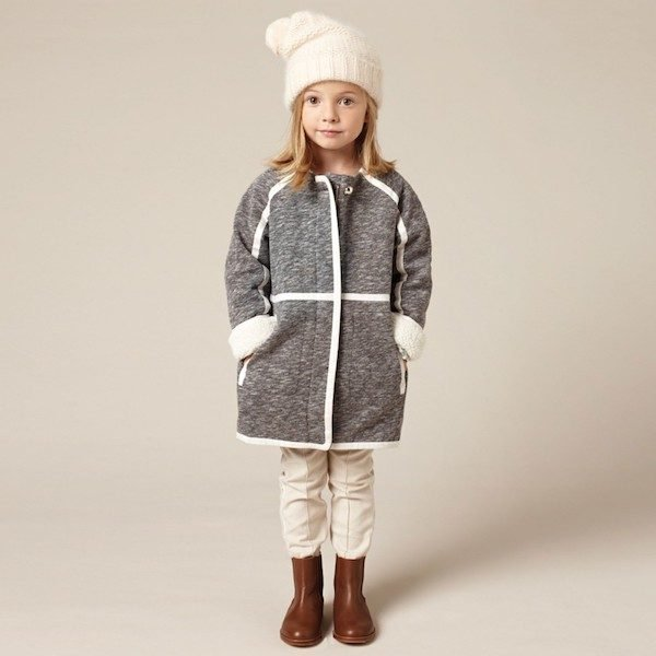 CHLOE-Girls-Grey-Marl-Jersey-Fleece-Lined-Coat-Look