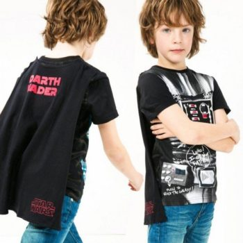 DESIGUAL Boys Star Wars Shirt with Cape