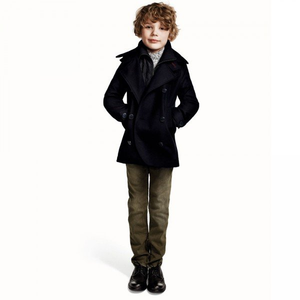 DKNY Kids Navy Blue Wool Peacoat | Dashin Fashion