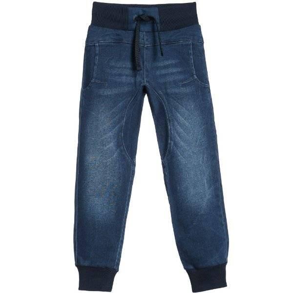 Bikkembergs Blue Denim Drawstring Trousers