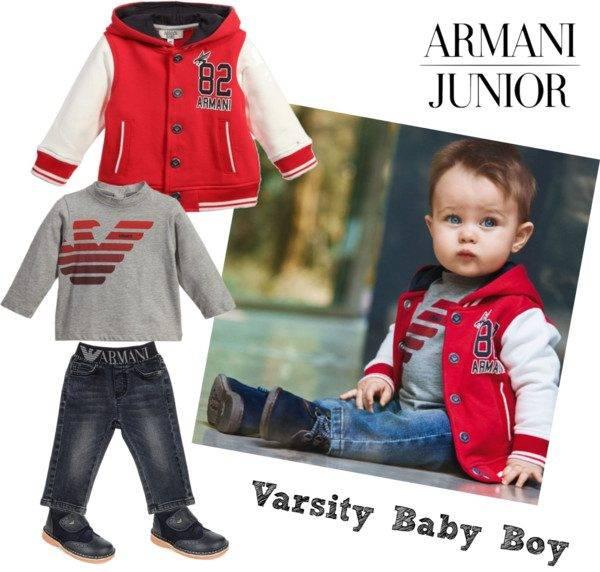 Armani Junior Baby Boy Varsity Look