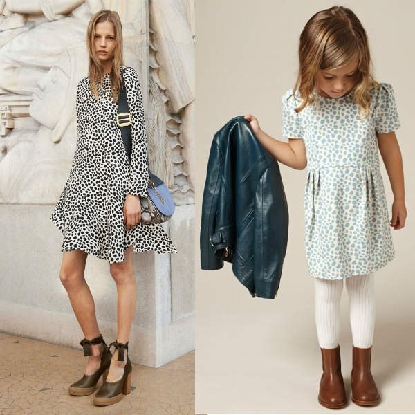 CHLOE-Mini-Me-Ivory-Jersey-Dress-with-Blue-Animal-Print