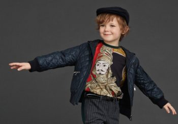 DOLCE & GABBANA Boys Green 'Knight' Print Cotton Top