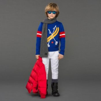 DSQUARED2 Boys Blue Wool 'Ski' Sweater