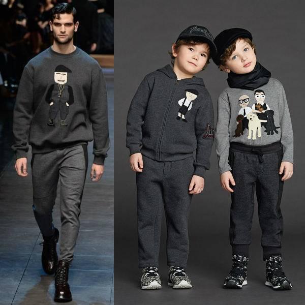 Dolce & Gabbana Boys Mini Me Family Sweatshirt