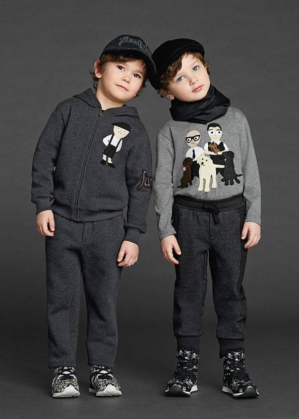 Dolce Gabbana Sicilian Family Grey Boys Sweatshirt